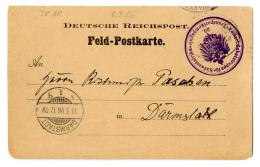 """Ausreise 78 (Transport Zusammen Mit Professor Woermann II (Ausreise 77) 802 Mann Und 840 Pferde): """"Deutsche Seepost..."""