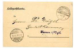 """""""Keetmanshoop 14.2.07"""" Liebesgaben- FP-Karte Des Alldeutschen Verbandes (Plauen/Vogtland) Weihnachten 1906 Nach..."""