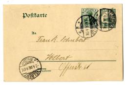 Pracht-Ganzsache 5 Pf Aus Südwest Nach Velbert, Die Mangels Kenntnis Der Genauen Anschrift Offenbar Im Brief...