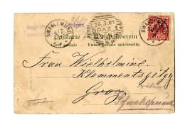 """10 Pf Auf Bildkarte (kl. Eckbugspur) """"Swakopmund 23.4.01"""" Nach """"Graz 26.05.01"""" """"Ausgerufen Vom Briefträger..."""