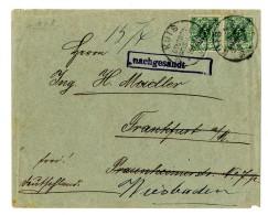 """2 Mal 5 Pf In Mischfrankatur Auf Brief (Beförderungsspuren) """"Kuis 16.4.01"""" Nach """"Frankfurt 14.4.01""""..."""