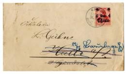 """""""Kanton 31. 5.15"""" (Kriegsdatum) Auf Prachtbrief (kl. Rißchen) Mit 4 C. (Nr. 40) Nach Deutschland"""