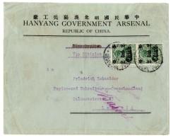 Paar 2 C. Auf Firmen-Vordruckbrief (rs Fehlt Teil Einer Klappe), Ursprünglich Als Einschreiben Vorgesehen,...