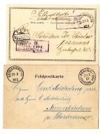 """""""K.D.Feld-Poststation No. 2 23.3. Bzw. 20.5"""" Auf 2 Pracht-Bildkarten """"Peking 23.3,01"""" Bzw Mit Briefstempel..."""