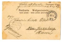 """""""K.D.Feld-Poststation No. 9 20.3"""" Auf Pracht-Bildkarte (Chinesisches Dorf) Nach Neu Jssenburg"""