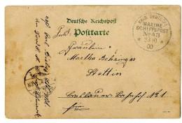 """""""MSP 43 23.10.00"""" (Fürst Bismarck) Auf Pracht-Bildkarte Aus Tsingtau Nach Stettin"""