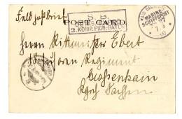 """""""MSP 27 7.8.00"""" (Dresden) + Briefstempel """"2.Komp.Pion.Batls."""" Auf Pracht-Bildkarte (Port Said) Nach..."""