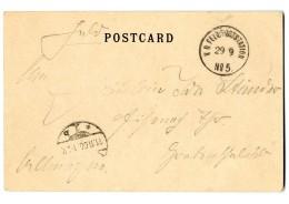 """""""K.D.Feld-Poststation No. 5 29.9"""" Auf Pracht-Bildkarte Nach Deutschland"""