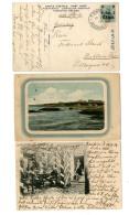 """3 Pracht-Bildkarten (dabei 1 Mal """"Kantine 8. Geb.-Bttr Paotingfu"""") Aus """"Tientsin"""" 1904-14 Nach Deutschland"""