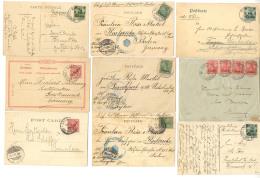 6 Frankierte Bildkarten (3 Mit Soldatenbrief Stempeln), 1 Brief Und 2 Ganzsachen (P 6 II, 14) Alle Nach...