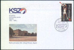 Croatia 60 Years Of Basketball Federation Of Zagreb Special Illustrated Letter Cover And Postmark 2005 Bb161028