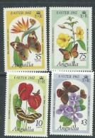 Anguilla N° 441 / 44  XX  Flore : Fleurs  Et Papillons, Pâques, Les 4 Valeurs Sans Charnière, TB