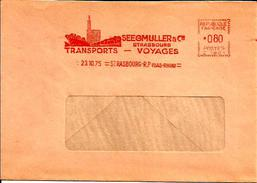 Lettre Entiere  EMA Transports Voyages Seegmuller  Bateau Train Strasbourg 67  B/919