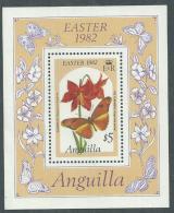 Anguilla BF N° 41  XX  Flore : Fleurs  Et Papillons, Pâques, Le Bloc  Sans Charnière, TB