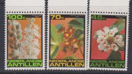 Antilles Néerlandaises N° 644 / 46  XX  Flore : Fleurs Des Antilles,  Les 3 Valeurs  Sans Charnière, TB