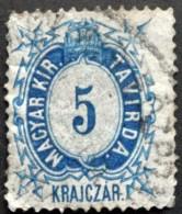 Hungary 1873  Telegraph    Minr.1  (o)  ( Lot  C 109  ) - Télégraphes