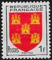 N° 952  FRANCE  -  NEUF  -   BLASON  POITOU  -  1953 - Francia