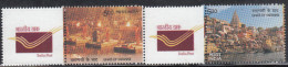 INDIA 2016 MY STAMP, VARANASI GHATS,Set 2v Setenant,Most Revered Hinduism Site Night & Day, Limited Issue, MNH(**) - Induismo