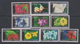 Antilles Néerlandaises N° 1510 / 19  XX  Flore : Fleurs,  Les 10 Valeurs  Sans Charnière, TB