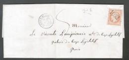 HAUTE MARNE, CIREY SUR BLAISE, GC 1032 ET TYPE 15 DU 9 MARS 1866, LETTRE AVEC CORRESPONDANCE - 1862 Napoléon III