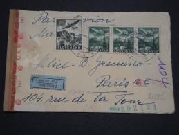 SLOVAQUIE - Enveloppe Par Avion Pour La France En 1942 , Contrôle Postal , Affranchissement Plaisant - A Voir - L 5005 - Cartas