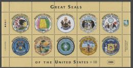 MARSHALL ISLANDS ,MNH, 2016, GREAT SEALS OF THE US, SHIPS, BIRDS,BEARS, BEAVERS, MOOSE, SHEETLET III,
