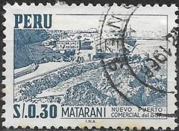 PERU 1962 View Of Matarani - 30c. - Blue FU - Peru