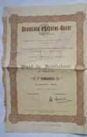 ACTION CHARGEURS D'EXTREME ORIENT - 1918 TITRE 00206 - Asie
