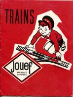 """Catalogue JOUEF Trains 1960 (35p) + Feuille Tarif + Dépliant """"accessoires Trains"""" (6p) + Dépliant """"réseaux"""" (4p) - Catalogi"""