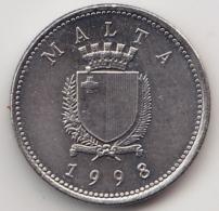 @Y@  Malta   2  Cents    1998     (3386) - Malta