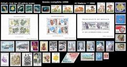 MONACO Année Complète 1988 - Yv. 1614 à 1662 ** SUP  Faciale= 30,58 EUR - 49 Timbres ** MNH ..Réf.MON20151