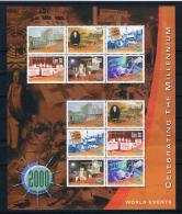 Irland 2000 Jahrtausendwende Mi.Nr. 1292/97 Zd-Bogen ** - 1949-... Repubblica D'Irlanda