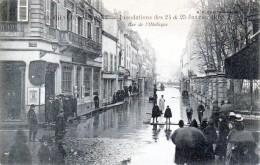 CHALON-sur-Saône - Inondations Des 24 Et 25 Janvier 1910 - La Rue De L'Obélisque - Très Beau Plan Animé - Chalon Sur Saone