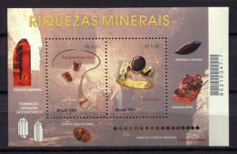 Brazil 2001 Brasil / Geology Minerals MNH Minerales Mineralien / Cu1315  31 - Minerales