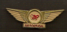Pin Insigne TAP Air Portugal Originale D´equipage Avion Original Plane Crew Badge - Avions