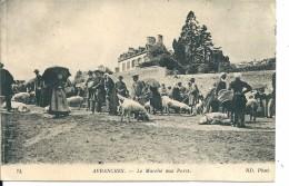 Avranches ( Manche) Le Marché Aux Porcs + Cachet Croix Rouge Française