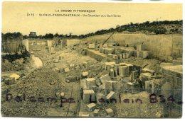 - 2175 - St-PAUL-TROIS-CHATEAUX - ( Drôme ), Un Chantier Aux Carrières, écrite, Glacée, Splendide, TBE, Scans - Francia