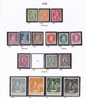 REPUBLIQUE1920 BAVIERE T.P 177 A 186 188 A 193  OBLI MH MNH - Bayern (Baviera)