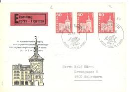 Schweiz, Bauten, 1964, Express-Brief, 1972 Bern Nach Solothurn, 364LRM, Mit Nr, Porto Richtig, Siehe Scans!