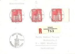 Schweiz, Bauten, 1960/64, R-Brief 1976 Bern Nach Bindlach, 364 RM.5.01 Buchstabe Q, Selten Auf Brief! , Siehe Scans!