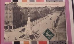Reims - Place Drouot D'erlon Et Fontaine Sube 1908