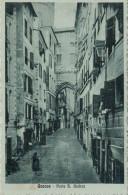 GENOVA   PORTA  S.  ANDREA     1915    2 SCAN   (VIAGGIATA)