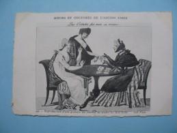 """CPA    """" Moeurs Et Coutumes De L´Ancien Paris Repro D´une Gravure De Mode """" Le Bon Goût """"   -   (voir Photo)  -  N°  357"""
