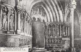 Candes Saint Martin L'église Le Porche - Sculpture De La Porte D'entée (coté Nord)