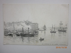 Postcard  The Entrance To The Camber Portsmouth Art Drawn Card By M Snape Charpentier Ltd My Ref B198 - Portsmouth