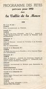 Fetes De 1950 + Menu Des Fetes +livret 3 Jourd A Namur +C. P Les 40 Molons +2 Photos 13x18  Les Morlons Et Groupe Franca - Namur