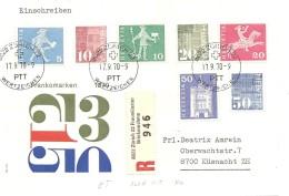 Schweiz, Bauten, 1970, FDC. Mischer Mit Rollenmarken, Alle Mit Nummern, Siehe Scans!