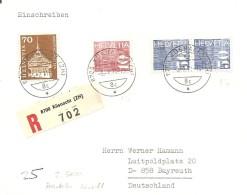 Schweiz, Bauten, 1970, R-Brief, Küssnacht Nach Bayreuth , Siehe Scans!