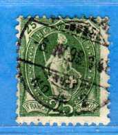 SUISSE ° -1898 - ZUM. 67C  / MI. 59XC.  D. 11-1/2 X 11 / 13 Dents.  2 Scan. Cat. Zum. 2016  € 10.00.    Vedi Descrizione