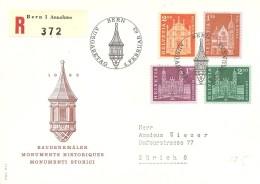 Schweiz, Bauten, 1963, Bern R- FDC, 391-394 , Siehe Scans!